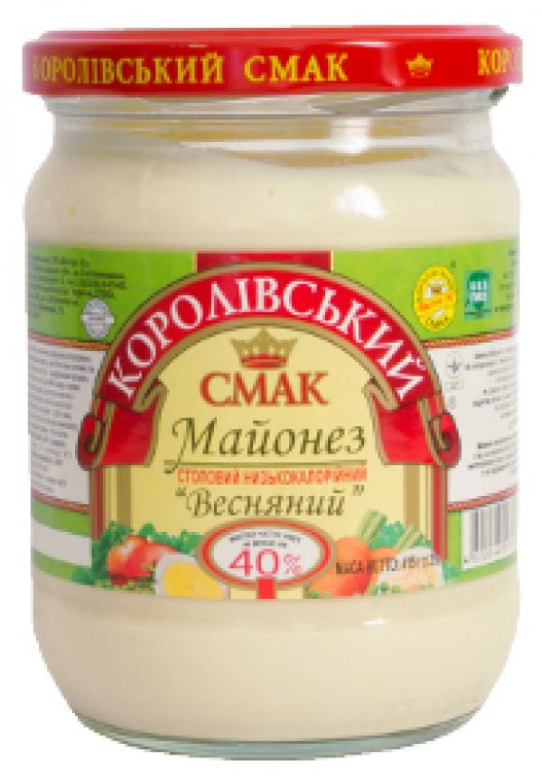"""МАЙОНЕЗ """"ВЕСНЯНИЙ"""" 40%, 415Г"""