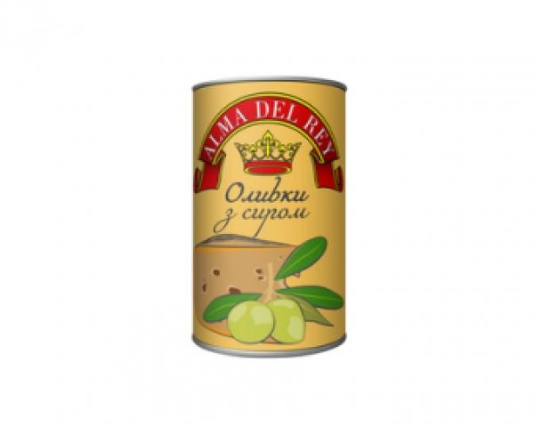 Оливки зелені з сиром ALMA DEL REY