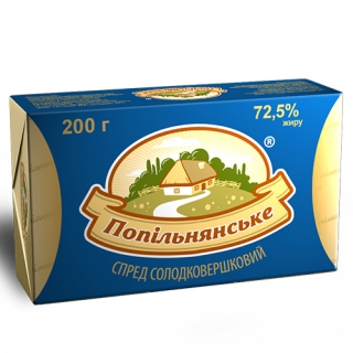 """СПРЕД СЛАДКОСЛИВОЧНЫЙ """"ПОПЕЛЬНЯНСКИЙ"""" 72,5%"""