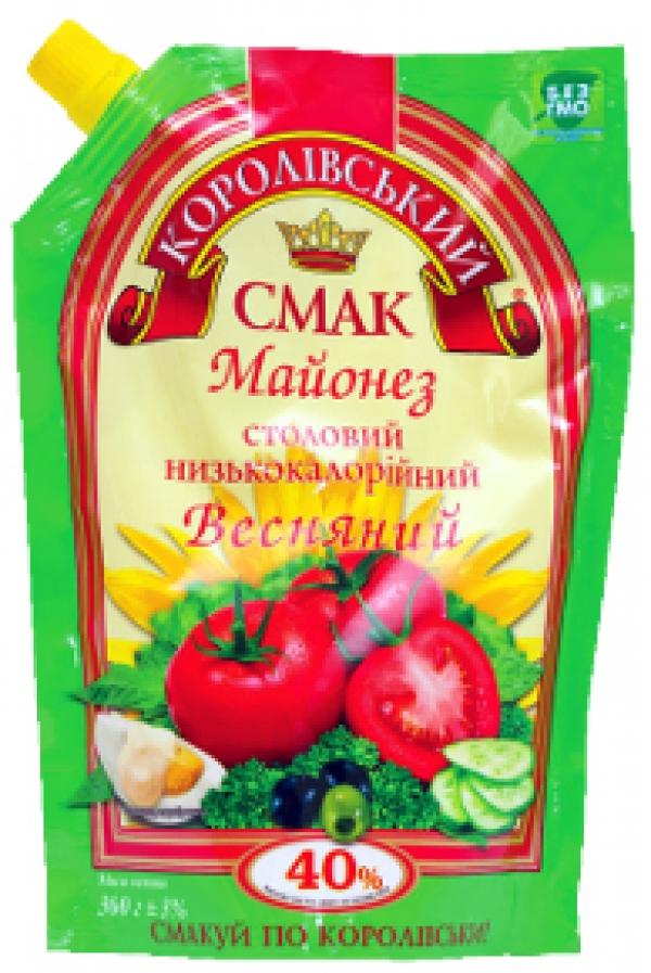"""МАЙОНЕЗ """"ВЕСНЯНИЙ"""" (ВЕСЕННИЙ) 40%, 360Г"""