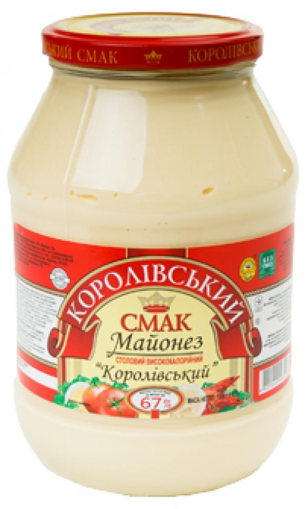 """МАЙОНЕЗ """"КОРОЛІВСЬКИЙ"""" 67%, 1200Г"""