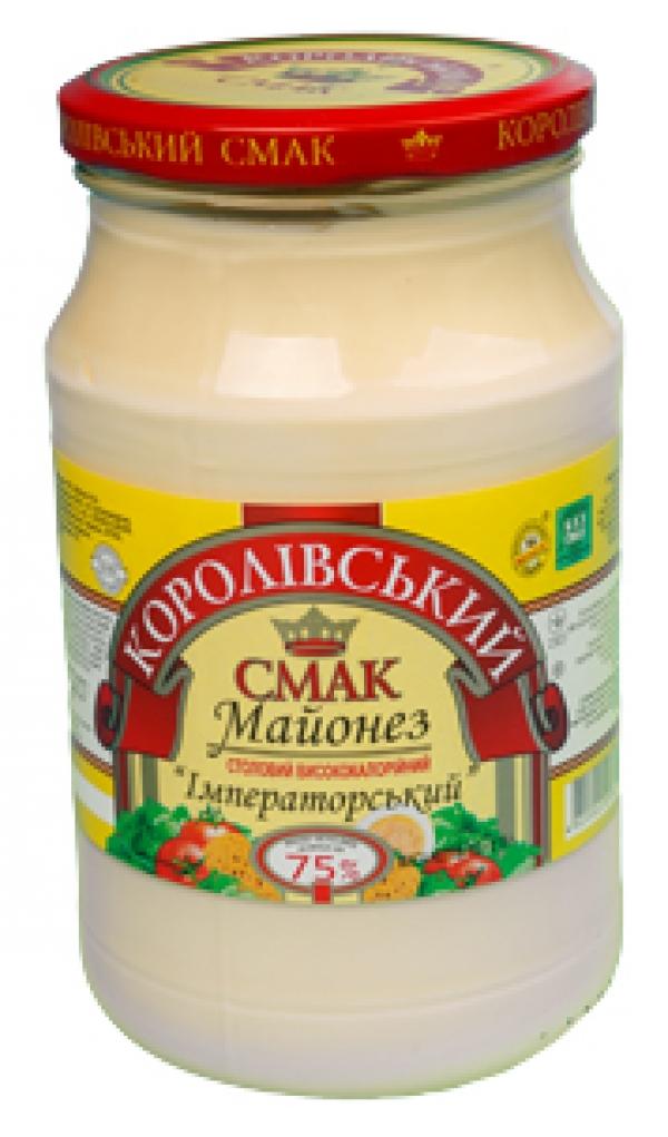 """МАЙОНЕЗ """"ІМПЕРАТОРСЬКИЙ"""" 75%, 770Г"""
