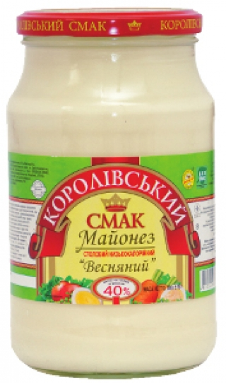 """МАЙОНЕЗ """"ВЕСНЯНИЙ"""" (ВЕСЕННИЙ) 40%, 780Г"""