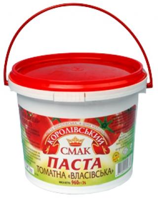 """ПАСТА ТОМАТНА """"ВЛАСІВСЬКА"""", 960Г"""