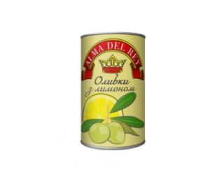 Оливки зелені з лимоном ALMA DEL REY