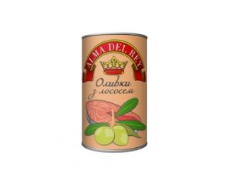 Оливки зеленые ALMA DEL REY с лососем