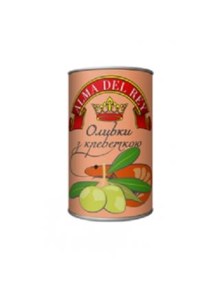Оливки зеленые ALMA DEL REY с креветками