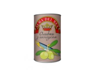 Оливки зеленые ALMA DEL REY с анчоусом